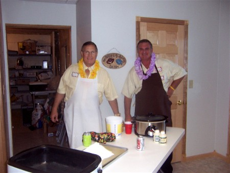 Jim and his Assistant Chef, John