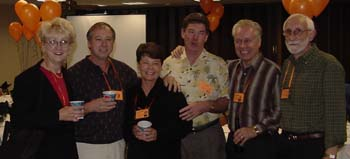 JoAnn Samsal, Bill Nix, Mary Desnoyers, Tom Hanna and Hogan, Doug Schroeder