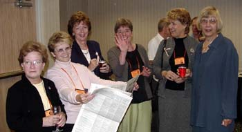 Lynn Stuneck, Dawnita Flink, Rosalie Craig, Ann Costello, Sue Pennala and Jan Kroll