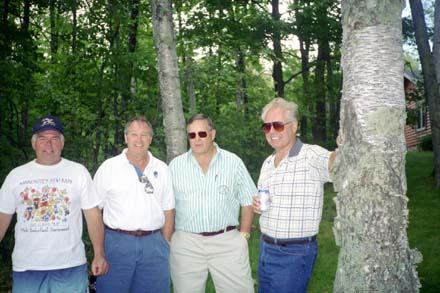 Gary Monson ('62), Bill Nix, Jim Beier ('62) and Tom Hogan