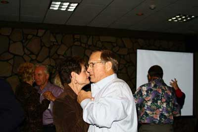 Sandi )Cunningham) and Jim Beier doing a little dancing