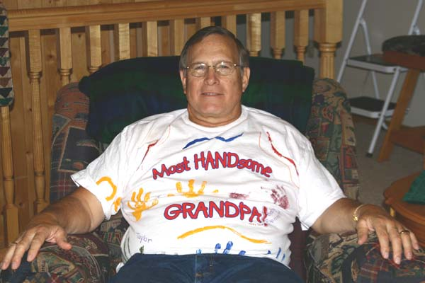 Jim Beier with his Handsome Grandpa shirt