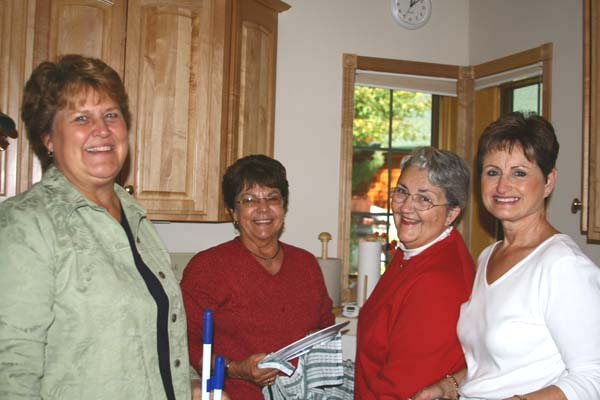 Sue Pennala, Mary Desnoyers, Alice Arseneau, Sandi Cunningham